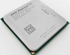 3D model AMD Phenom II Cpu