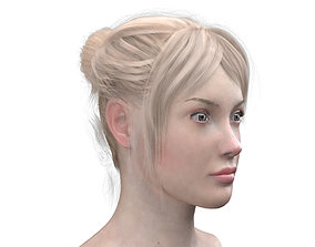 FEMALE HEAD with FACIAL EXPRESSIONS 3D asset