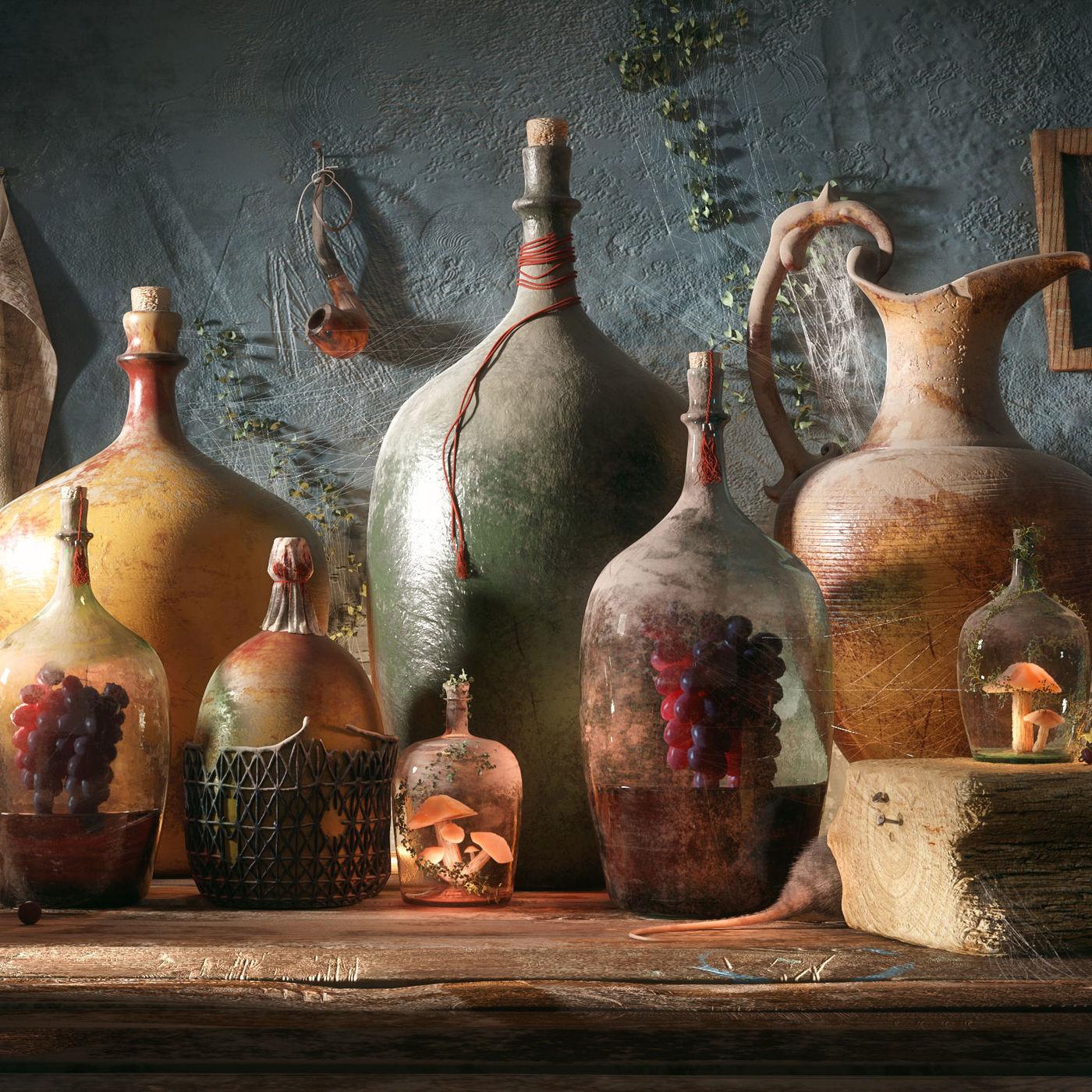Bottles of Life by Farid Ghanbari