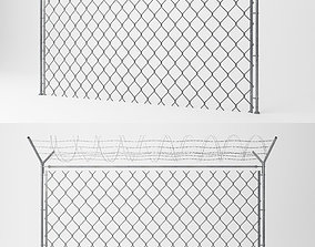 Chain Link Wire Fence 3D model wire
