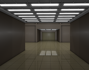 3D model low-poly Empty Room