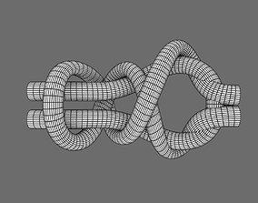 3D model double simple simon knot