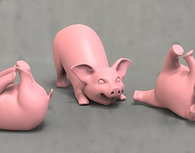 pig yoga 3D printable model