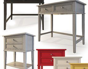 3D Dmitry Desk and nightstand by Beachcrest Home