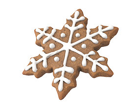 Photorealistic Snowflake Gingerbread 3D Scan
