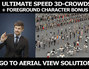 3d crowds Ingrain A Business Man Sitting in a Cafe