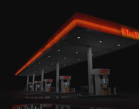 tank gas station 3d model
