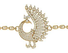 Peacock Bracelet Charm 3D print model