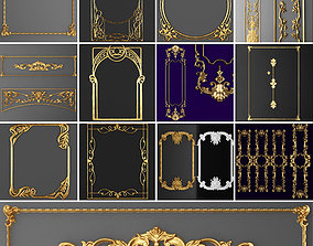 3D model Collection stucco molding frame 3