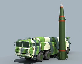 3D model military China DF-16 ballistic missile