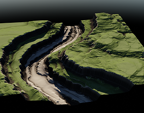 Plateau River 02 3D model