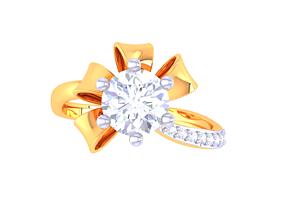 shining 3D print model Solatire Rings