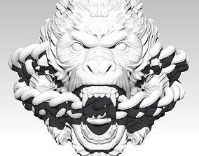 3D print model Roar Monkey Ring with chain