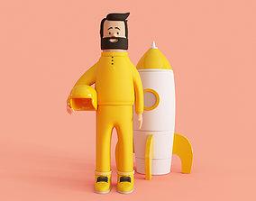 3D model Cartoon Cosmonaut
