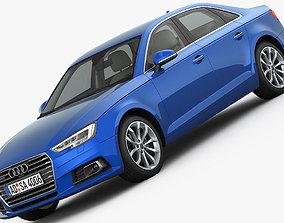 Audi A4 2016 detailed interior 3D