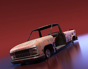 3D model Junkyard Pickup