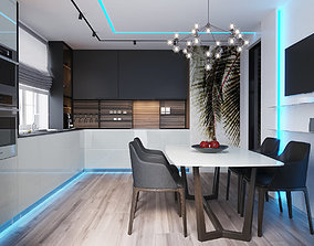 3D kitchen scnene for interior experts and lovers