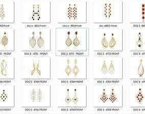 27 Western Chandlier Earrings Drops Jumkis 3dm render