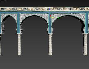 islamic arabic moroccan arch portal wall panel 3D model