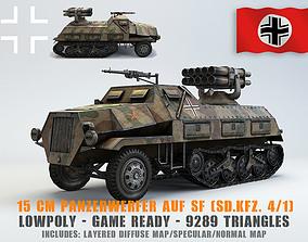Low Poly 15 cm Panzerwerfer 42 3D model