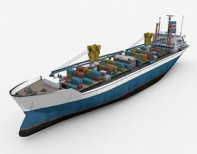 3D model Cargo Ship 3
