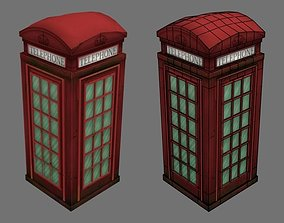 English telephone booth 3D asset