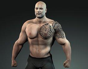3D model Dwayne Johnson The Rock