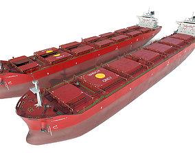 3D model Bulk carrier Red
