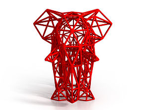 Elephant Wireframe 3D printable model