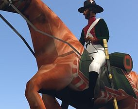 3D model Black Dragoon LOW POLY Napoleonic wars