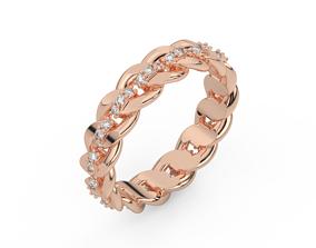 3D print model diamond cuban ring