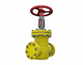 3D model Industrial pipeline valve 1