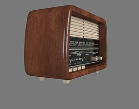 3D model low-poly Old Radio