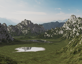 3D model Mountains - Blender procedual Material