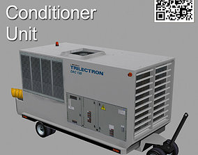 3D model rigged Ground Air Conditioner Unit