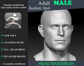 Realistic Male Head 191115 3D asset