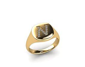 rings 3D print model Jewelry Signature Ring