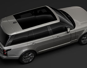 3D Range Rover Hybrid LWB L405 2018