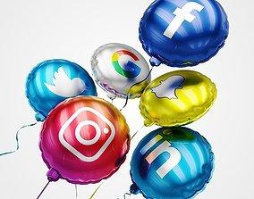 3D Social Media Balloons