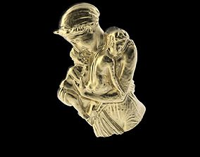 3D print model Woman with 2 children