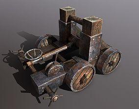 Catapult 3D asset