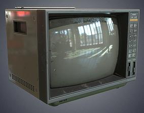 3D asset Television retro