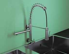 Designer kitchen faucet 3D