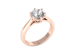 3D print model Solitaire ring 1 carat