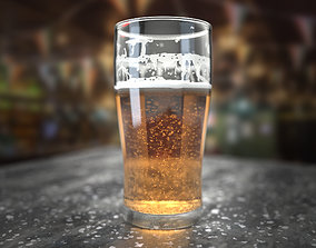 Beer Glass 3D model animated