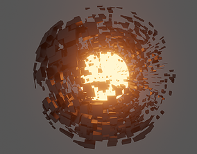 3D model Abstract Destroyed Sphere