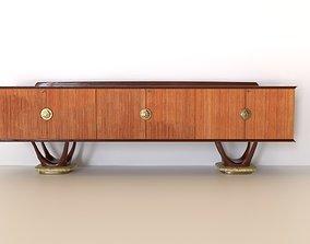 3D model Frateli Turri Long Sideboard Italy 1950
