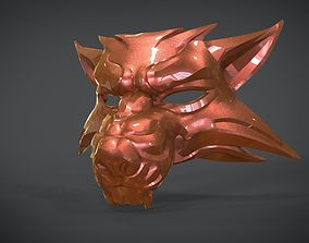 3D asset Witcher Wolf Mask