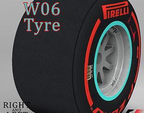W06 Supersoft rear tyre 3D model