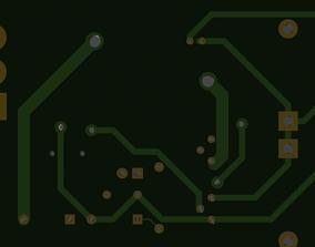 3D model Realistic Printed Circuit Board